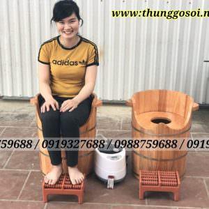 thùng gỗ xông vùng kín