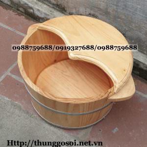 thùng ngâm chân gỗ giá rẻ