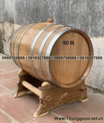 thùng rượu ngâm gỗ sồi
