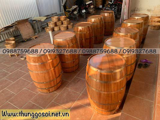 thùng rượu quán bar sx tại cssx thùng gỗ lê điệp.