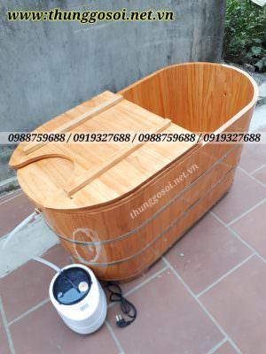 thùng xông hơi bằng gỗ sản xuất tại thùng gỗ lê điệp