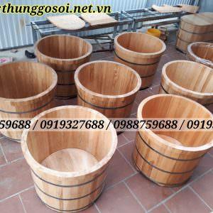 bán thùng tắm bằng gỗ sồi