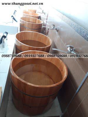 thùng tắm gỗ tại spa