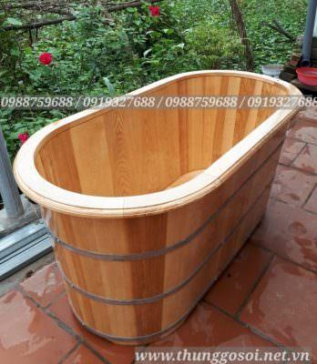 Thùng tắm gỗ ngâm người gỗ sồi