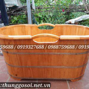 Thùng tắm gỗ thông