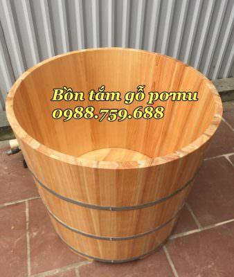 thùng tắm gỗ pơ mu cao cấp