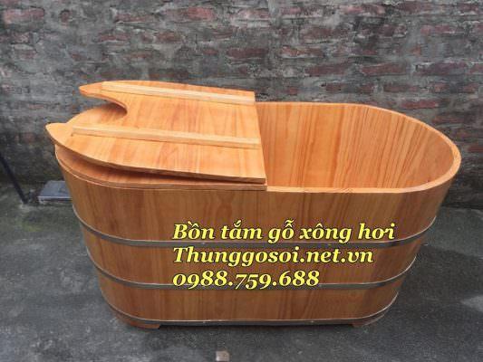 thùng xông hơi gỗ cao cấp