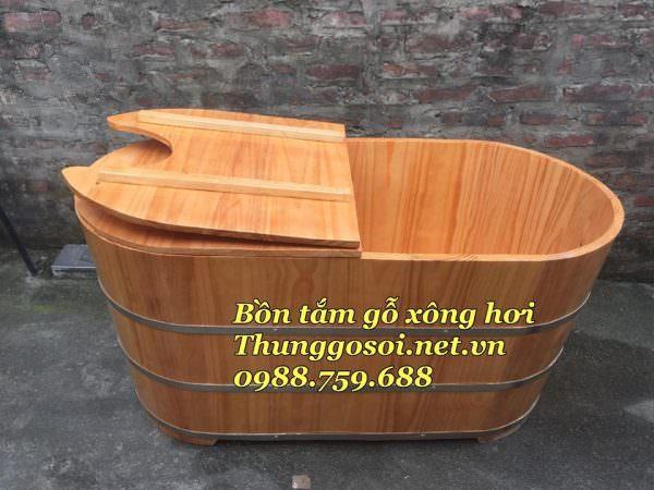 thùng tắm xông hơi, bồn tắm gỗ