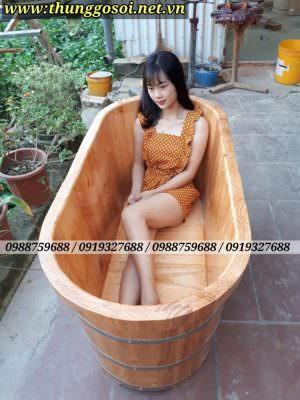 mua bồn tắm gỗ ở Hạ Long