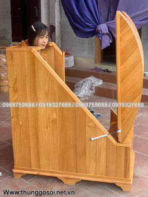 thùng xông hơi bằng gỗ