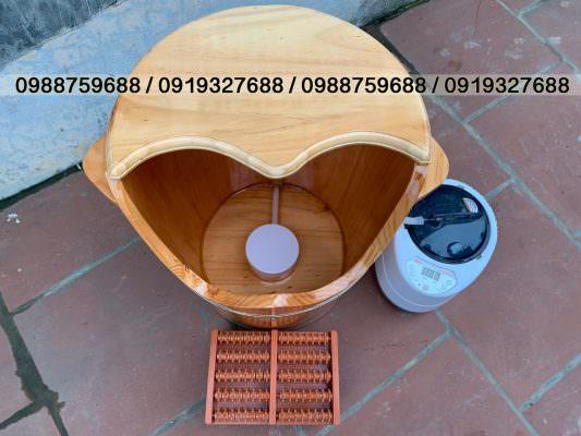 thùng xông hơi chân gỗ