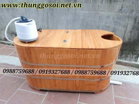 bán thùng gỗ xông hơi, thùng tắm gỗ 2 chức năng