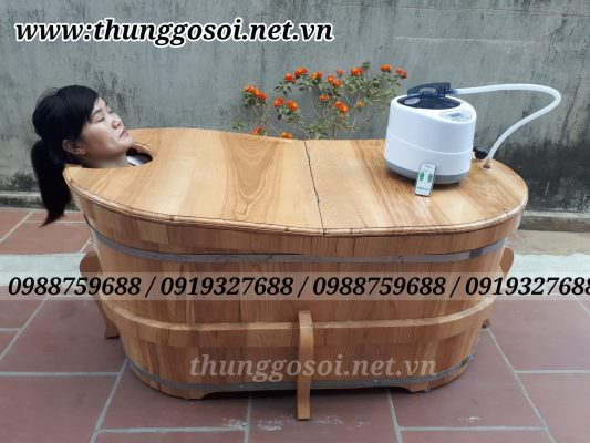 bồn tắm gỗ xông hơi tại Nam Định