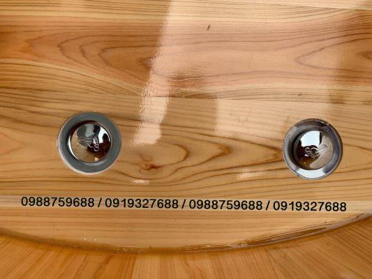 van bồn tắm gỗ được trang bị 2 van nhấn nhập khẩu