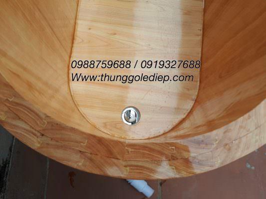bồn tắm gỗ ghép âm dương