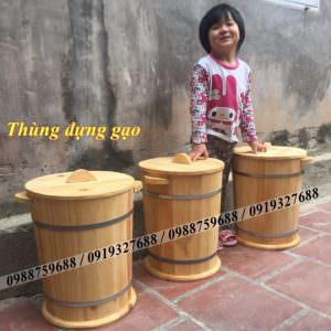 thùng gỗ đựng gạo giá rẻ