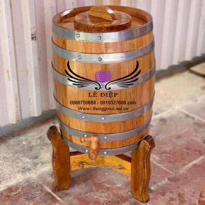 thùng gỗ sồi 20 lit