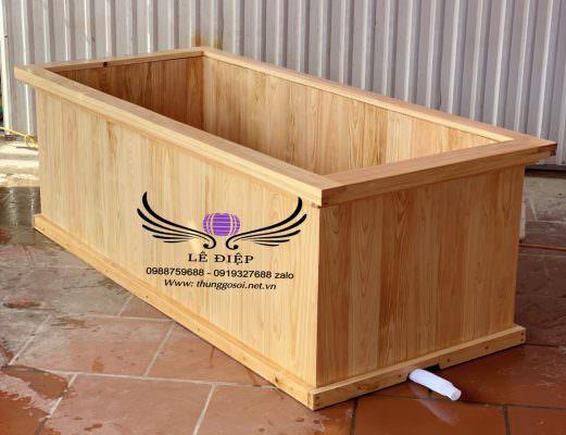 thùng tắm bằng gỗ