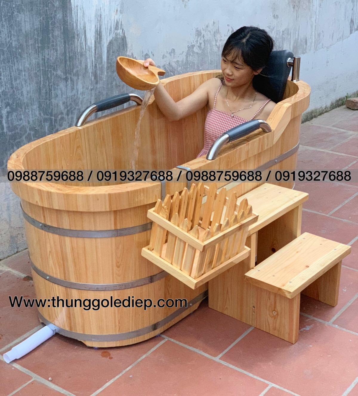 bồn tắm gỗ hinoki cao cấp