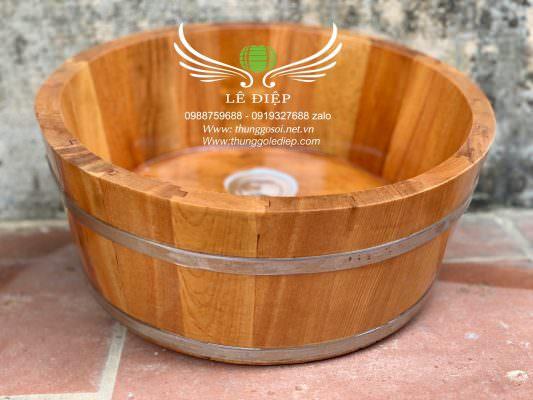chậu rửa mặt bằng gỗ