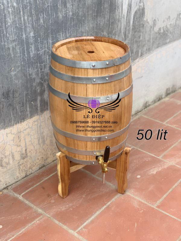 thùng gỗ sồi