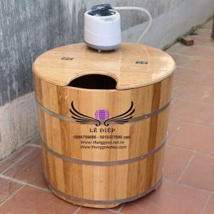 thùng xông hơi gỗ sồi
