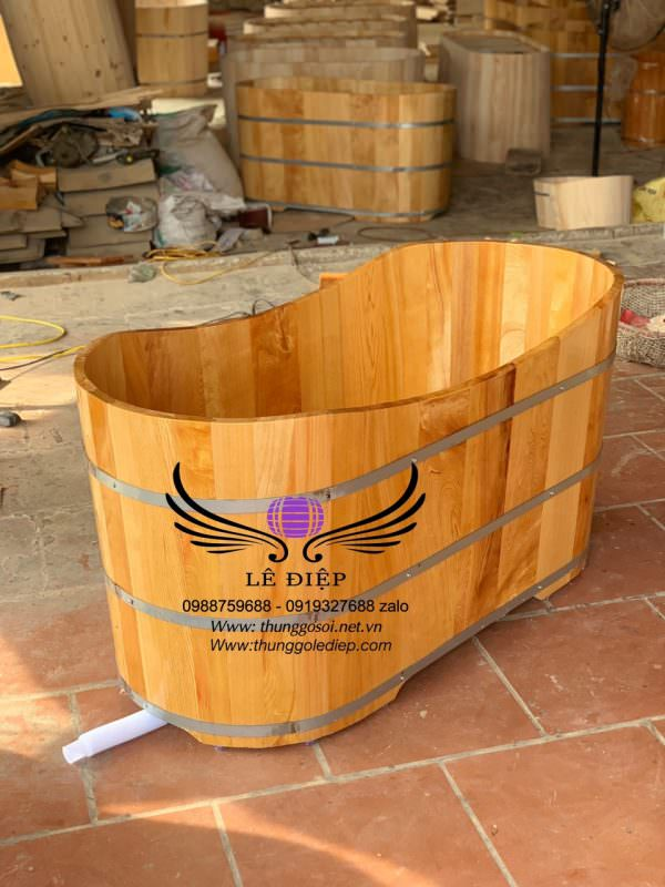 bồn tắm gỗ thanh lý