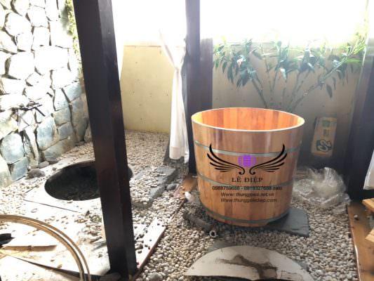 bồn tắm gỗ spa