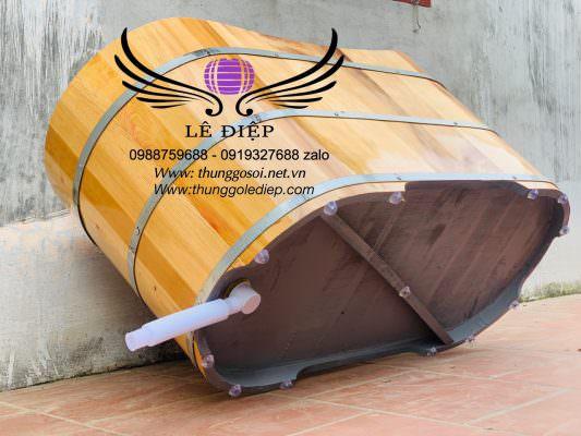đáy thùng tắm gỗ sơn dầu chống thấm cao cấp