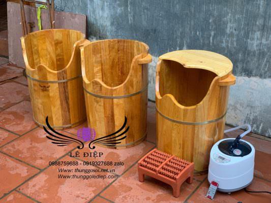 bán thùng gỗ xông chân