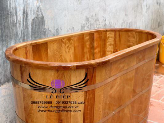 bồn gỗ sử dụng đai innox