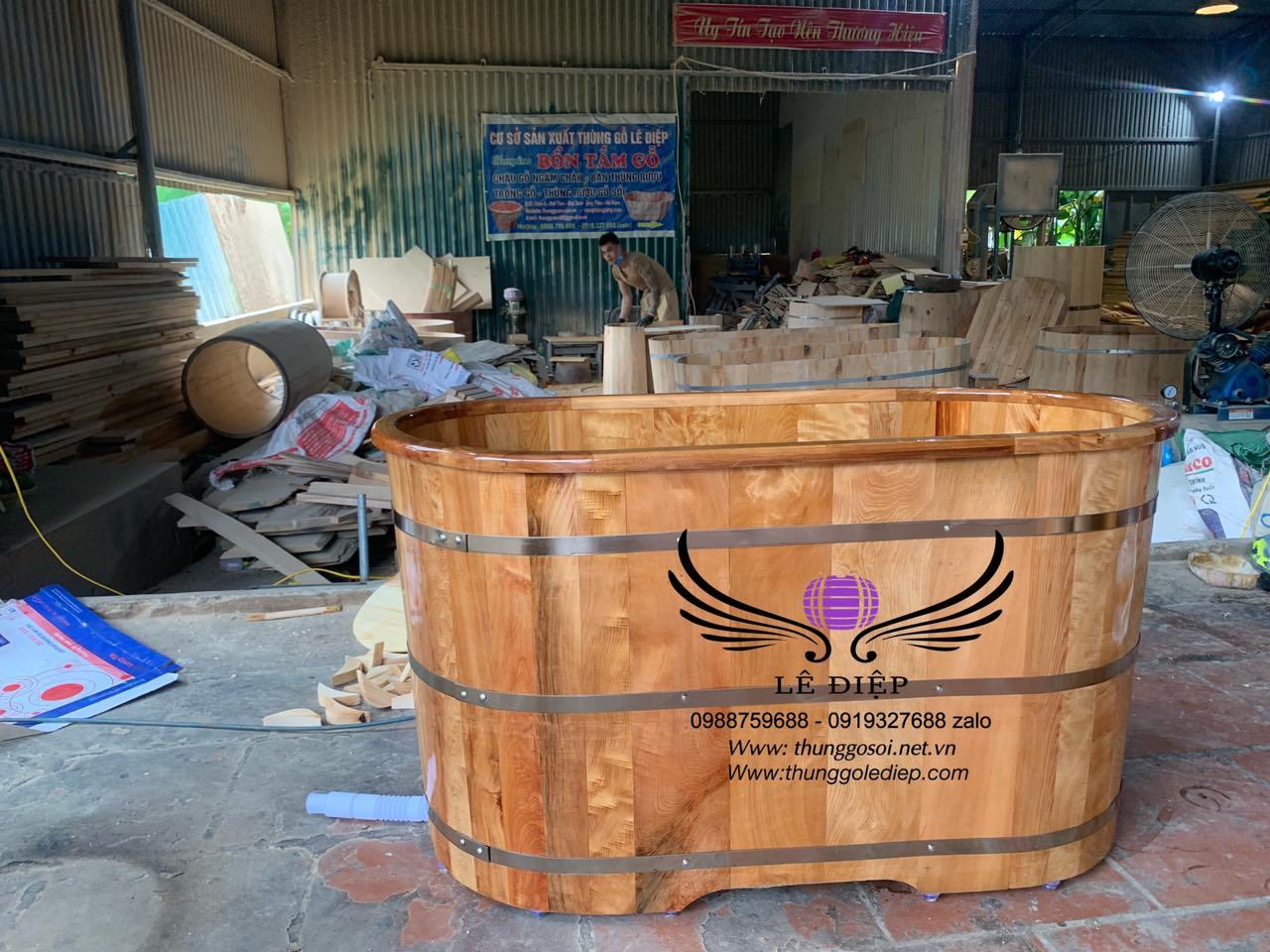 thùng tắm gỗ po mu việt
