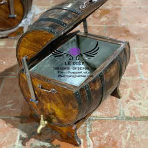 thùng gỗ ướp đá