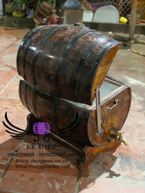 thung gỗ ướp lạnh