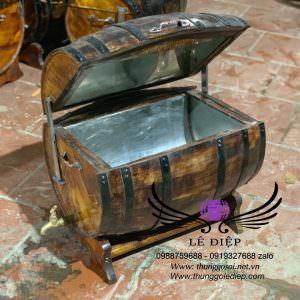 thùng gỗ ướp rượu bia