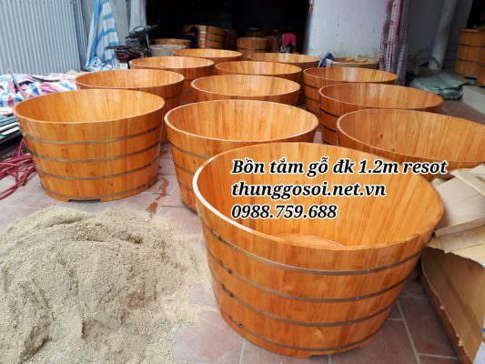 thùng tắm gỗ cho resort