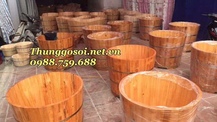 bồn gỗ cho resort