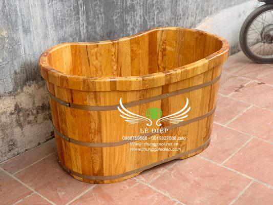 bồn gỗ mini