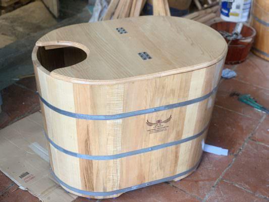 bồn gỗ xông hơi mini