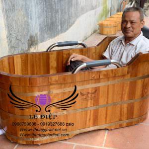bán bồn tắm gỗ ở hải dương