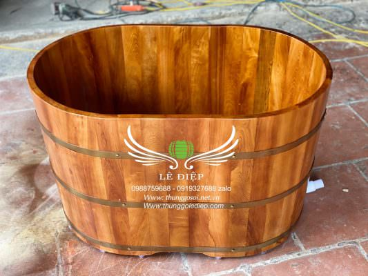 thùng tắm gỗ mini