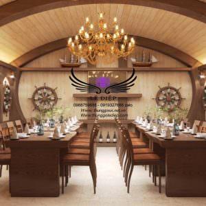 trang trí hầm rượu quán bar