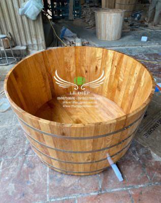 bồn tắm đôi bằng gỗ