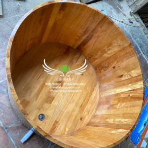 thùng tắm gỗ pơmu