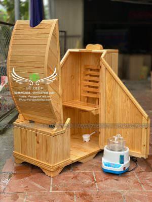 thùng xông hơi gỗ pơ mu nhật
