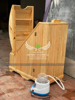 thùng gỗ kèm máy