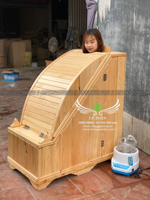 thùng xông hơi gỗ pơ mu