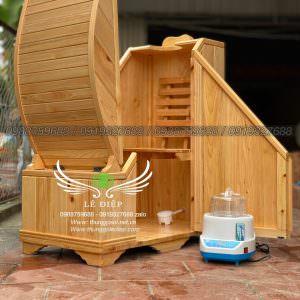 tủ gỗ xông hơi mini