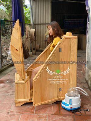 xông hơi thùng gỗ