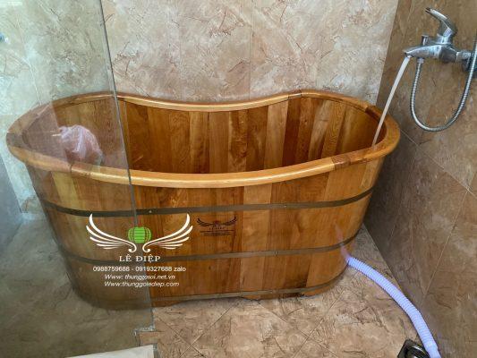 bồn tắm gỗ tại Hà Nội